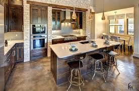 kitchen island wall attractive brick wall ideas for lavish kitchen with teakwood