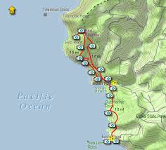 map of oregon state parks ecola state park loop hike