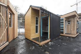 portland state architecture students build sleeping pods for