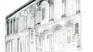 pencil sketches of buildings architectural sketch of modern bank