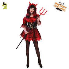 Evil Queen Costume Aliexpress Com Buy Devil Costume For Women U0027s Red Evil
