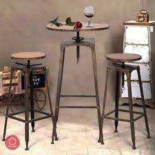 Antique Bistro Table Belleze 3pc Adjustable Pub Table And Stools Vintage Antique Bistro