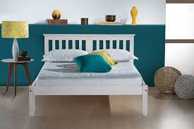 White Small Double Bed Frame by Birlea Salvador Bed Wood White Small Double Amazon Co Uk