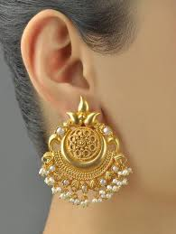earrings gold design 389 best gold jewellery images on indian jewelry
