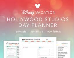 printable disney planning guide disney world daily parks planner disney agenda itinerary