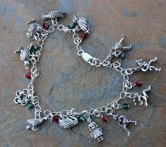 silver bracelet with charms images Twelve days of christmas pewter charm bracelet jpg