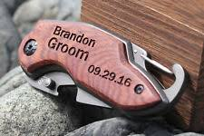 Personalized Pocket Knife Unbranded Wood Handle Collectible Modern Folding Knives Ebay