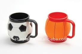 design plastic mug popular sports design plastic football shaped mug basketball shaped