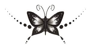 grey ink butterfly design