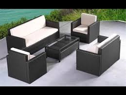 wicker outdoor furniture sets black inside patio design 9