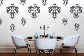 Dining Room Decals Damask Wall Decals Art Decor Ideas