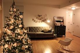 contemporary white tree with hanging ornaments most seen