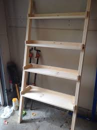 Fine Woodworking Bookshelf Plans by Fine Diy Ladder Bookshelf Home Design 1009
