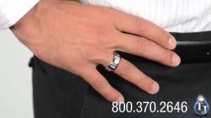10mm ring cobalt wedding band with diamonds by benchmark ekton 10mm