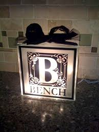 monogrammed personalized decal for glass light block