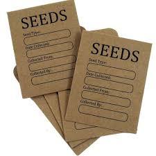 seed envelopes seed storage times beginner gardener seed storage