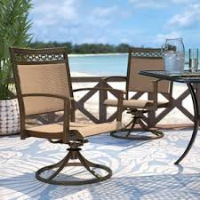 Patio Dining Furniture Swivel Patio Dining Chairs You U0027ll Love Wayfair
