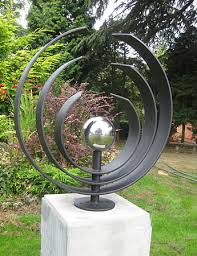 contemporary garden sculpture for garden landscape