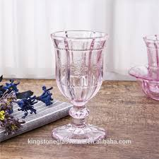 thick stem heavy wholesale colored pink water goblets buy pink