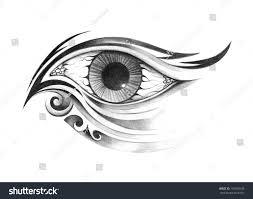 art surreal eye tattoo drawing on stock illustration 192900530
