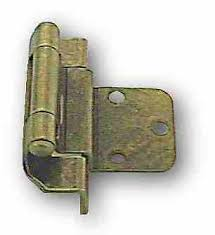3 8 overlay partial wrap cabinet hinges pair inset offset 3 8 semi wrap hinges antique brass self closing