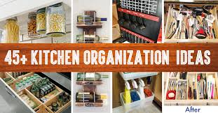 kitchen cabinet storage ideas 45 small kitchen organization and diy storage ideas diy