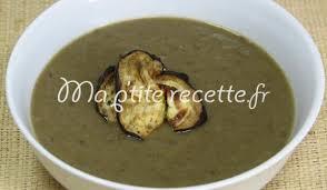 cuisiner aubergine velouté d aubergine aux lentilles recette soupe aubergine