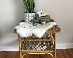 Wicker Accent Table Rattan Side Table Etsy