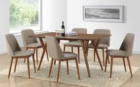 amazon com baxton studio 7 piece lavin mid century dining set