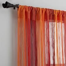 rideau fils ray礬 passe tringle orange terracotta 3suisses