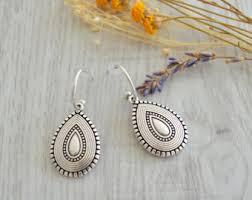 silver teardrop earrings teardrop earrings etsy