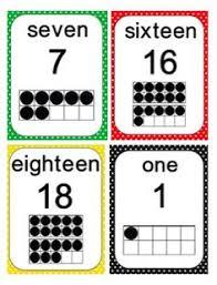 0 30 number poster cards teacherspayteachers k math