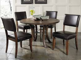 parsons wood dining table amazon com 5 piece round wood base dining set with parson chairs