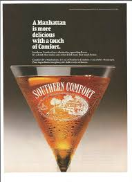 Drinks With Southern Comfort 1989 Advertisement Southern Comfort Dry Manhattan Cocktail 80s