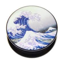 great wave off kanagawa hokusai acrylic plugs