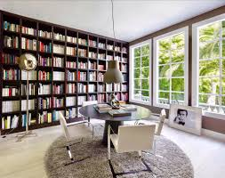 the stunning library at the villa bosphorus in bel air you