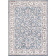 Concord Global Area Rugs Concord Global Trading Kashan Bergama Blue 6 Ft 7 In X 9 Ft 3