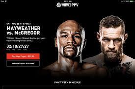 mayweather vs mcgregor live stream details for the big fight