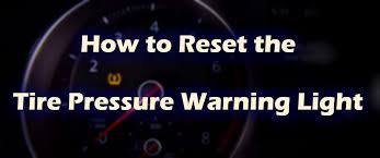 subaru low tire pressure light to reset your vw tire pressure monitoring system