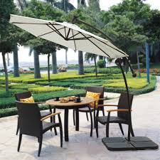 Patio Umbrella With Solar Lights by Cantilever Solar Powered 40 Led Light Patio Umbrella Outdoor