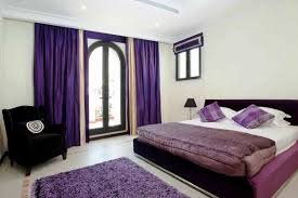 important things of purple bedroom decor homesfeed bold purple curtains for glass door queen sized bed furniture with white bedding and purple bedcover