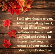 thanksgiving in the word do not depart