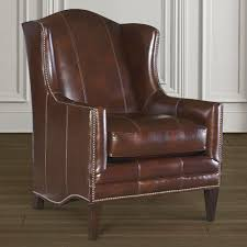 Brown Leather Accent Chair Fleming Leather Accent Chair Bassett Furniture