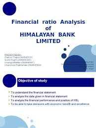 Objective Of Financial Statement Analysis Financial Ratio Analysis Of Hbl Expense Dividend