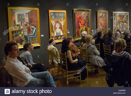 interior of national arts club in new york city stock photo