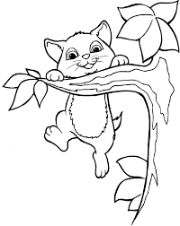 the cat climbed the tree coloring pages hang on patterns