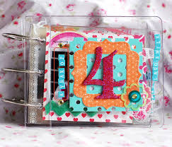 small scrapbook album projects clear albums