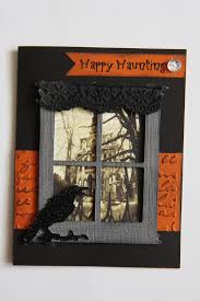 haunting halloween background sizzix tim holtz window die happy haunting halloween card haunted