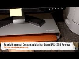 Compact Computer Desk For Imac Suaoki Imac Computer Stand Ips Z05b Review Youtube