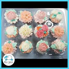 bridal cupcakes pastel tea party bridal shower floral cupcakes nj blue sheep